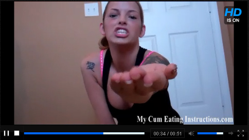 Click To Play My Cum Eating Instructions Trailer
